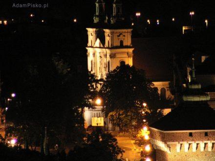 Kraków. Widok z Wieży Mariackiej  na Bazylikę Św. Floriana