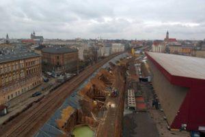 Nasyp kolejowy w Krakowie
